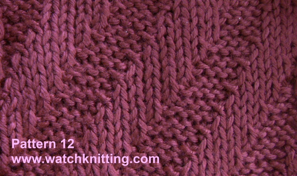 Knitting Stitches Pm : Knitting Models - Pattern 12 (Tilt stripes)
