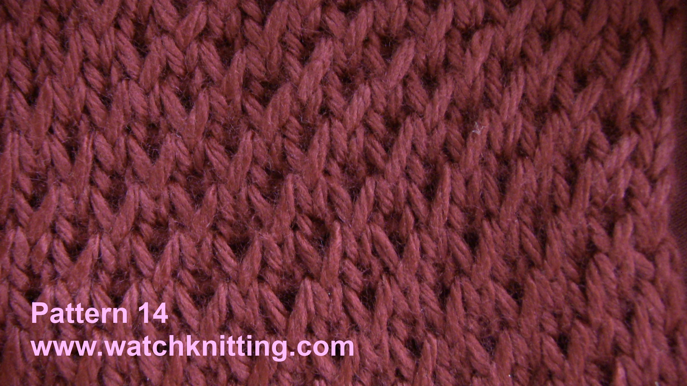 Simple Knitting Patterns : Pattern 14-Simple Knitting Patterns-www.watchknitting.com