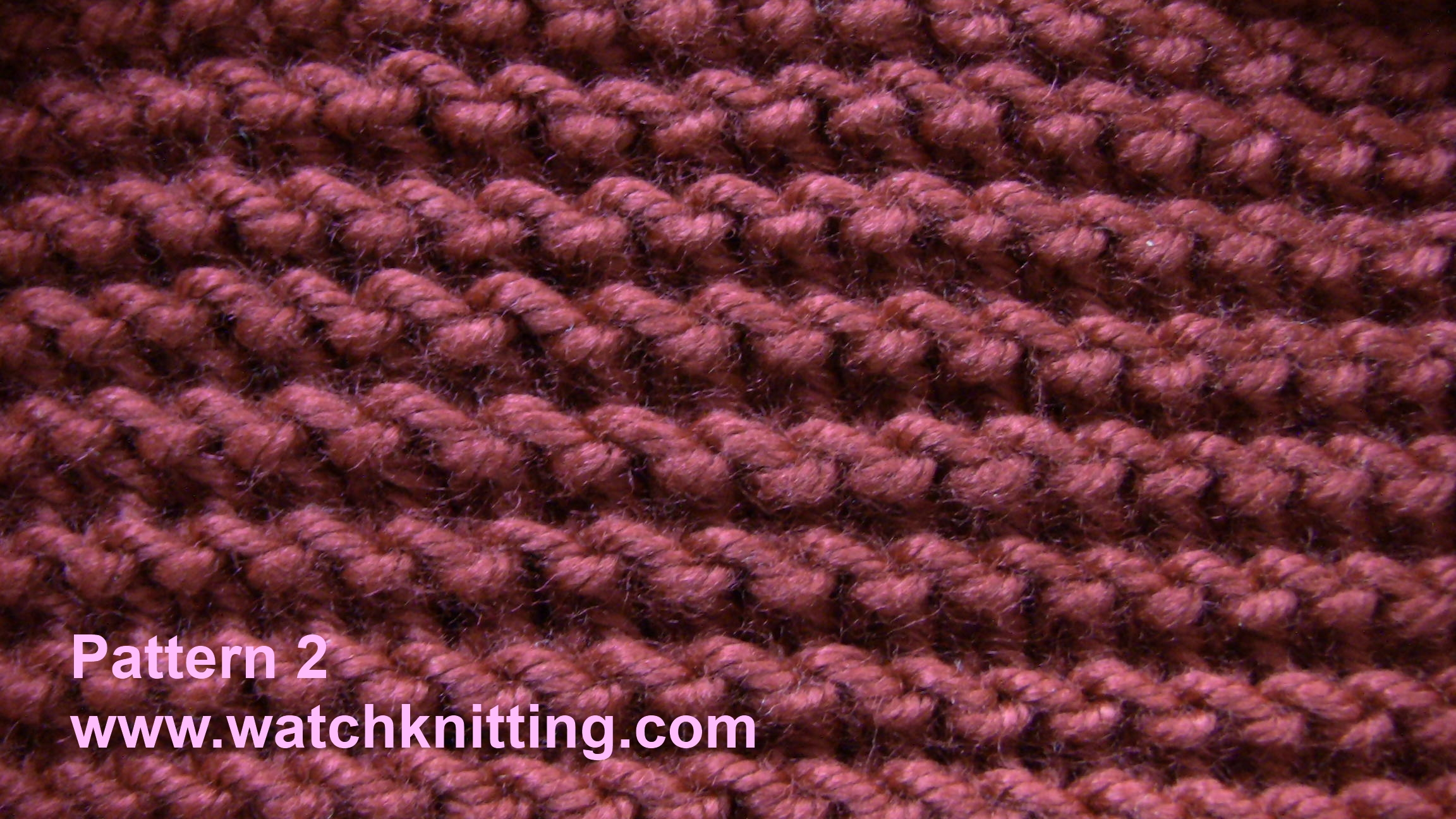 Knitting Instructions : Pattern 2-Simple Knitting Patterns-www.watchknitting.com