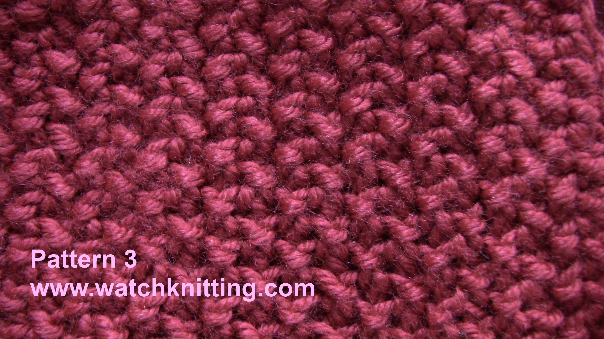 Simple Knitting Patterns : Pattern 3-Simple Knitting Patterns-www.watchknitting.com