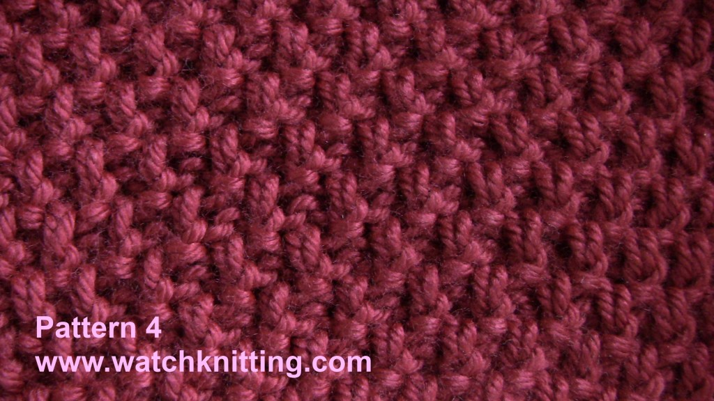 Double Seed Stitch Knitting In The Round : Pattern moss stitch