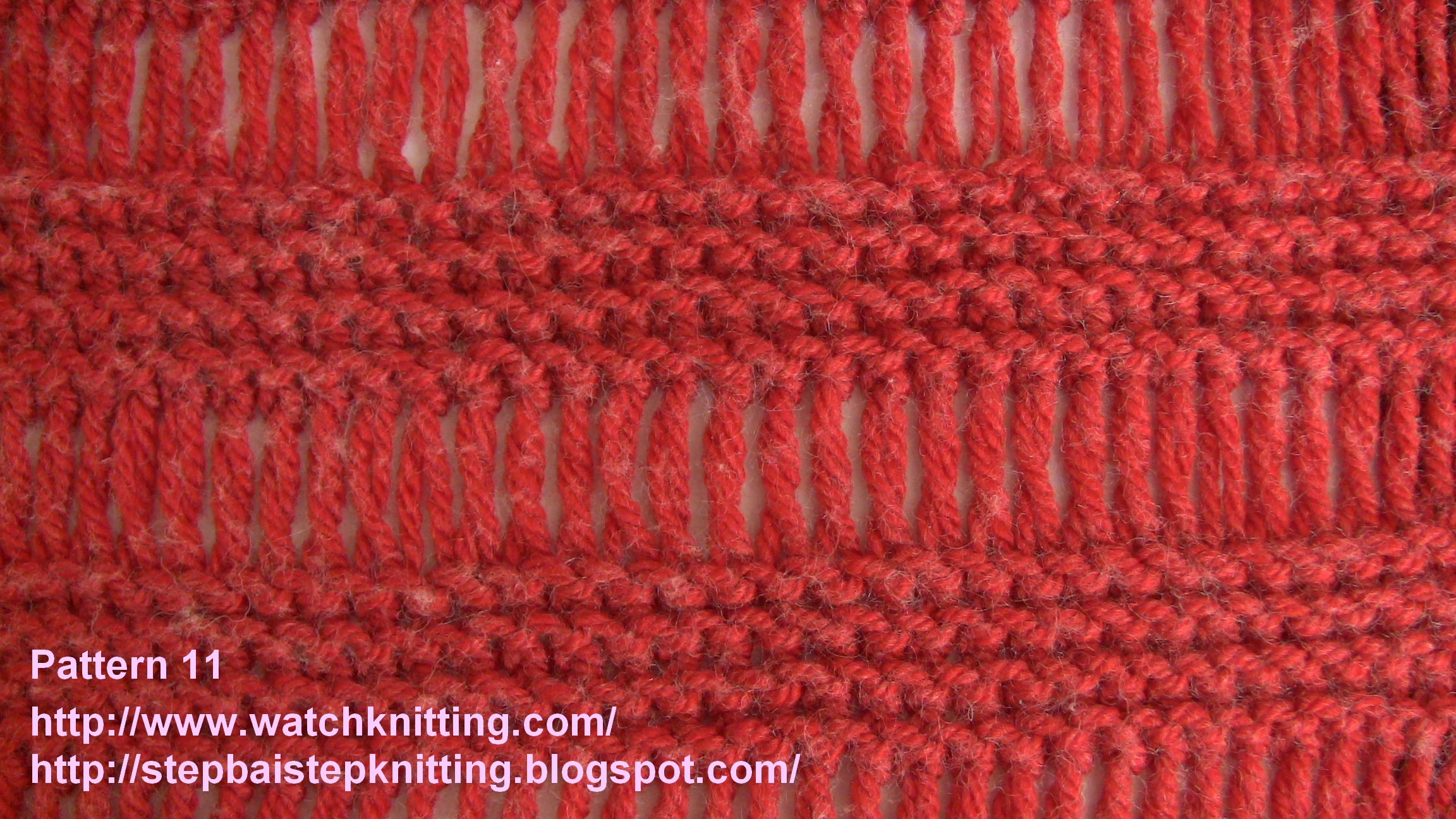Knitting Pattern Instructions Explained : Knitting Models - Pattern 11 (Cage model)
