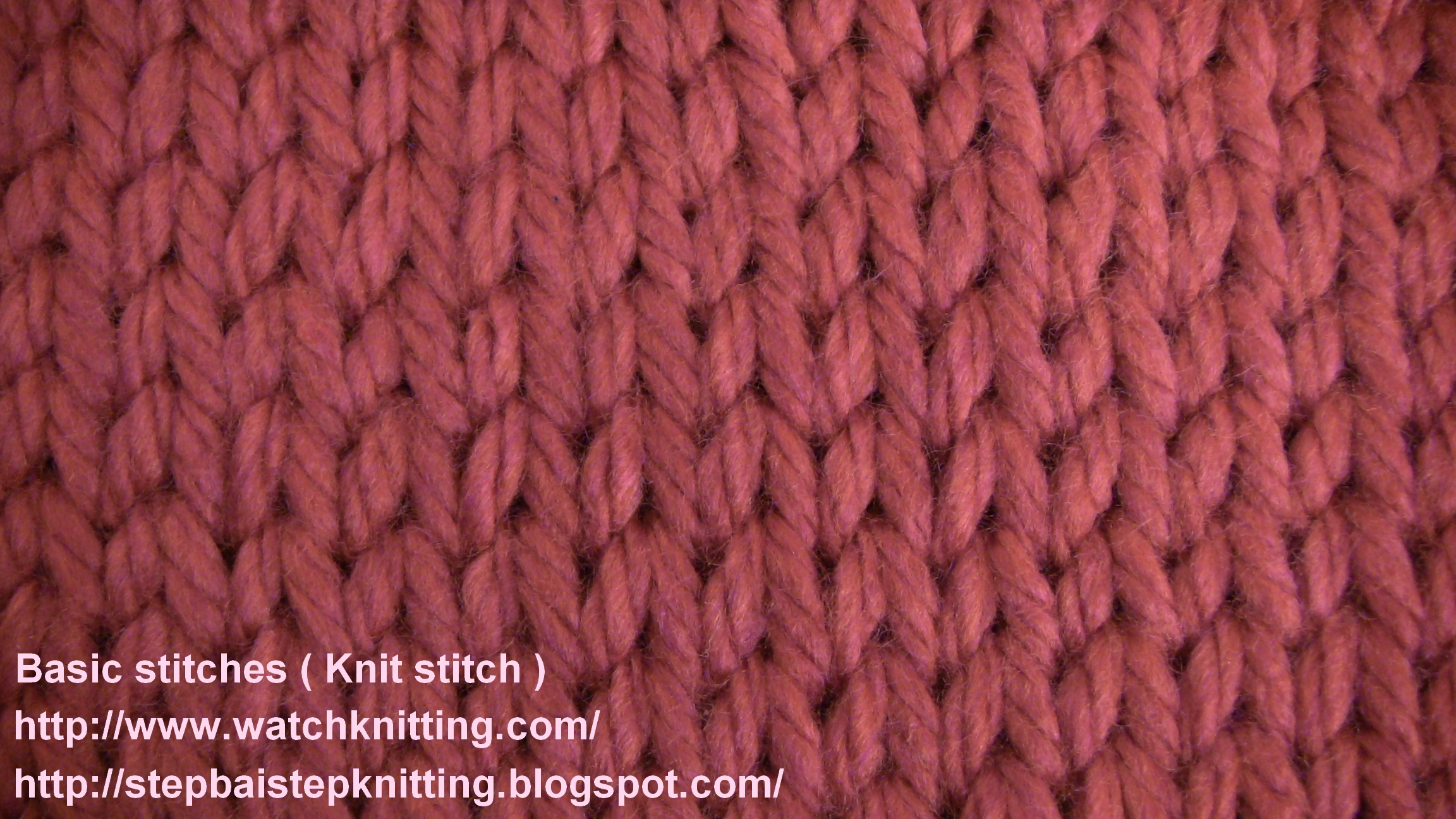 Easy Knitting : Easy Knitting Stitches Pictures to pin on Pinterest