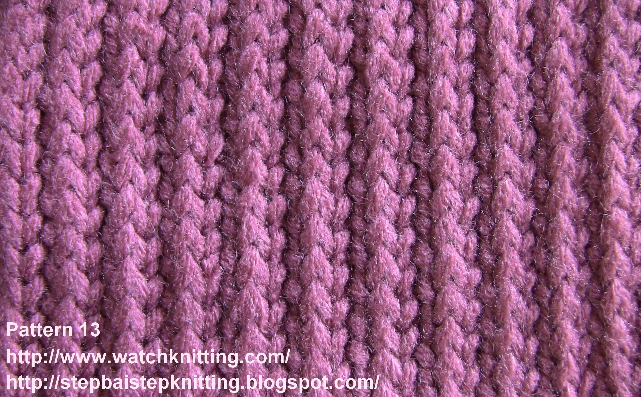 Patterns For Knitting : Simple Knitting models by basic stitches - Pattern 13 (Striped Model)