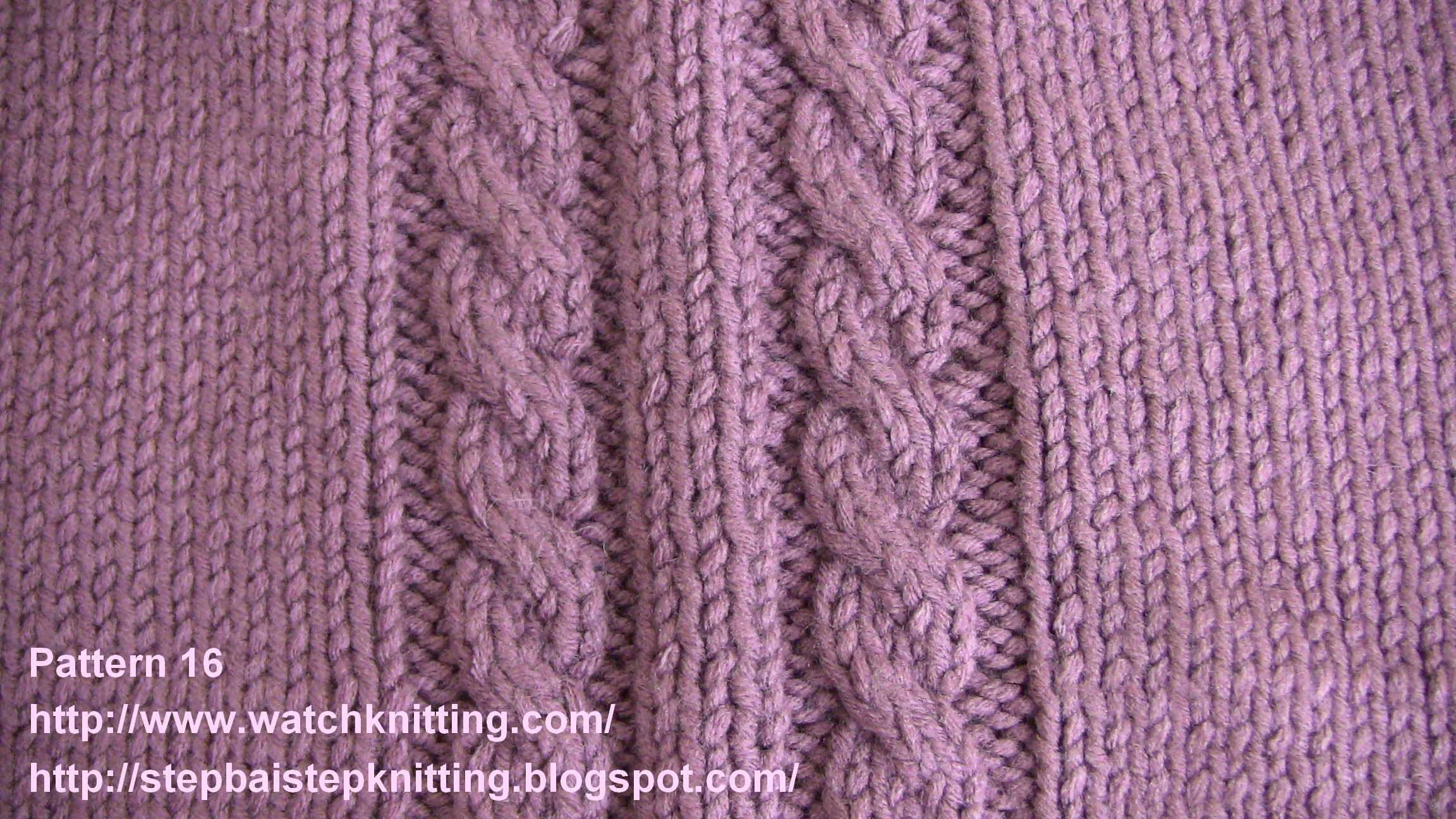 Watch knitting Models- Cable stitch