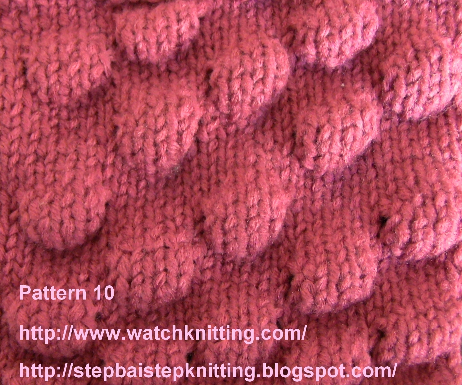 Knitting Stitches Pattern : Embossed Knitting Models/Patterns (Knobby model)