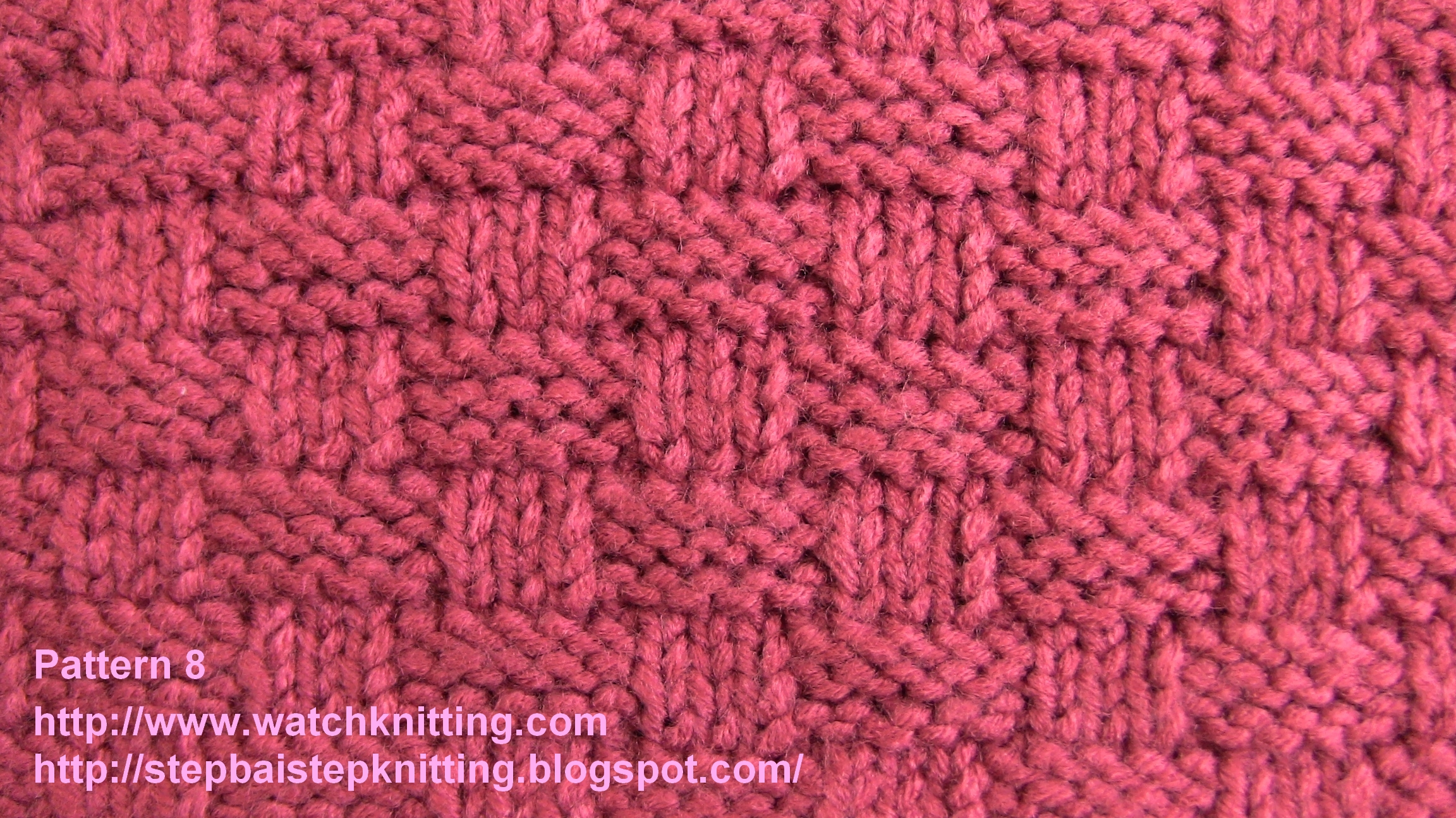 Simple Knitting Stitches : watch Simple Knitting Models - Pattern 8 (Basket model)