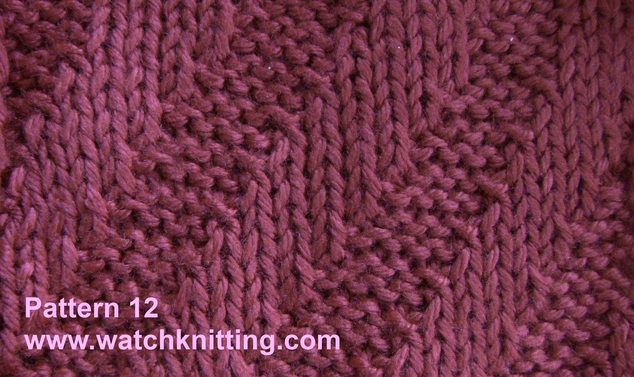 Simple Knitting Patterns : Pattern 12 Simple Knitting Patterns www.watchknitting.com