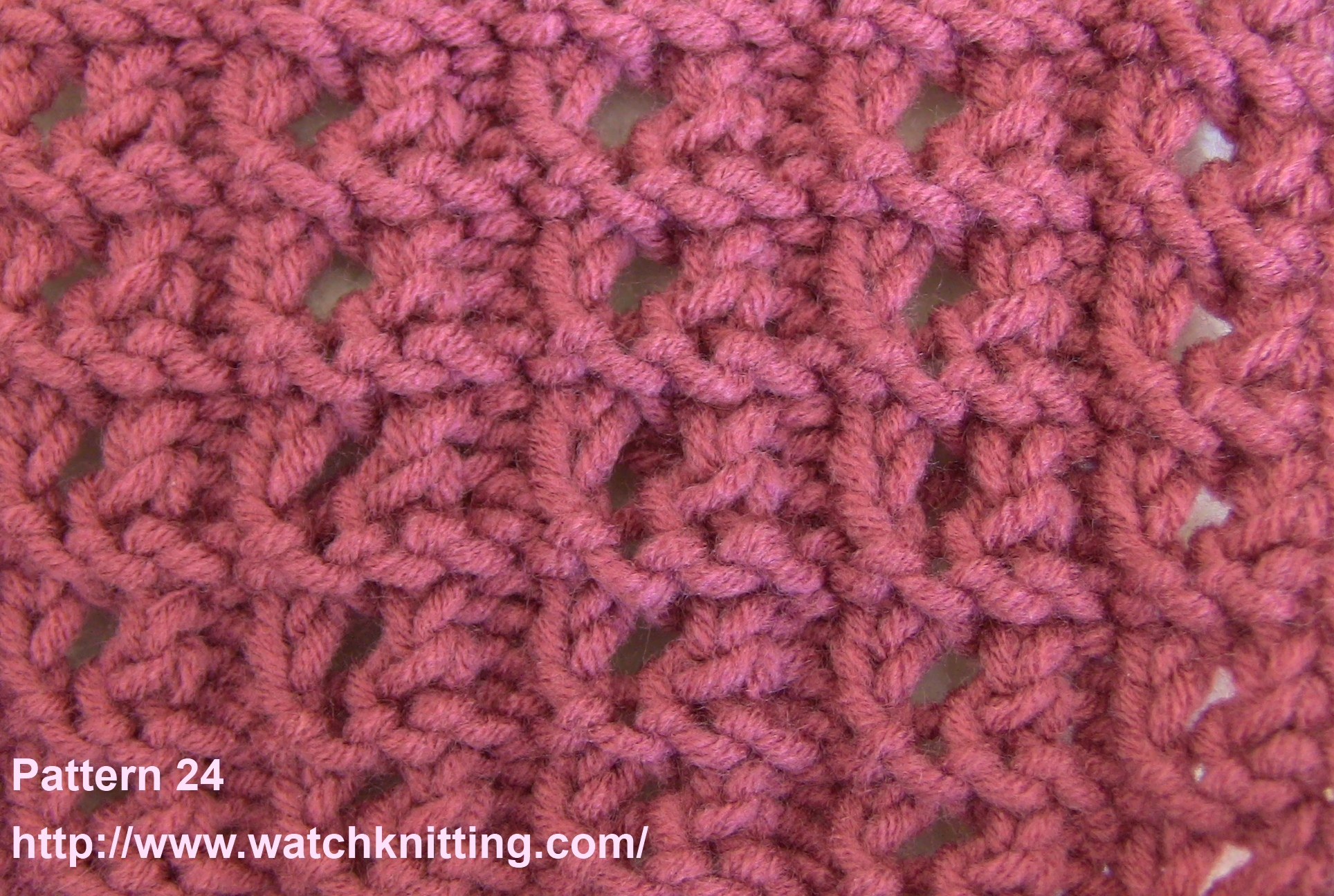 Knitting Stitches Gallery : Pattern 24 ( Striped Lace )- Lace Knitting Watch Knitting