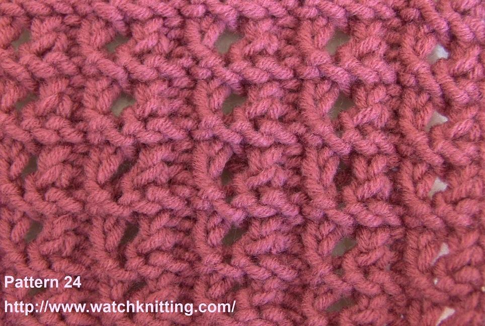 Knitting Rib Stitch For Beginners : Pattern striped lace knitting watch