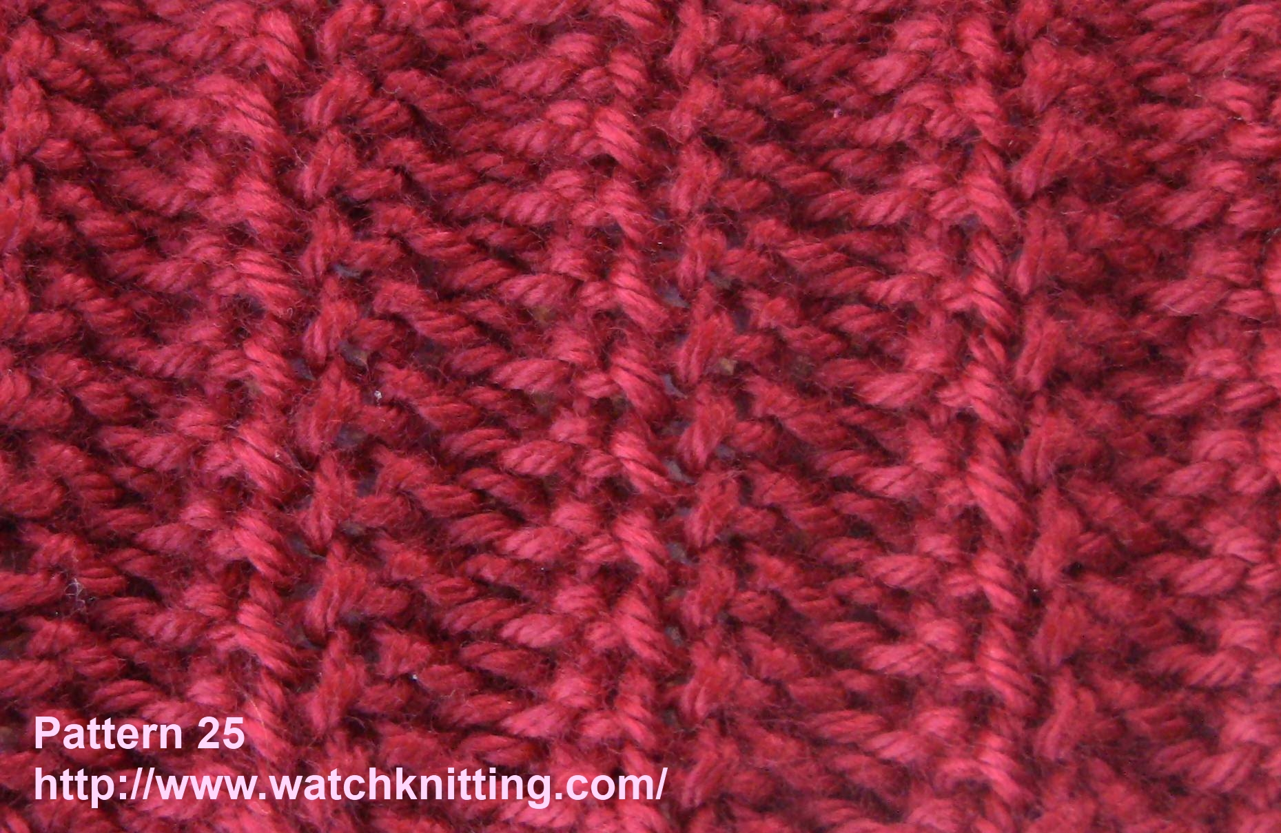 Knitted Jersey Patterns :   Stitch 25   Rib Stitch